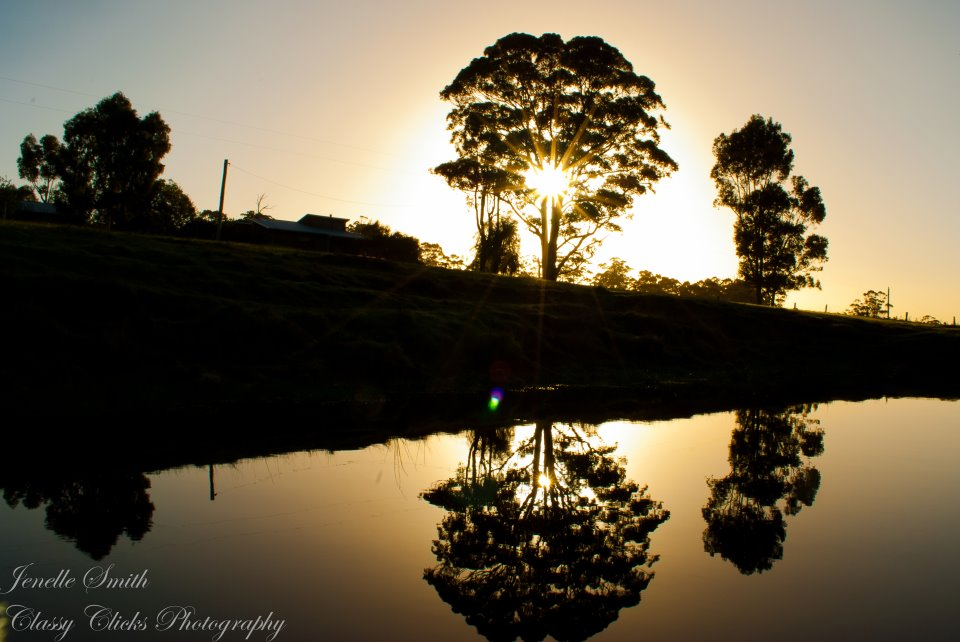 Sunrise at Billa Billa Farm Cottages in Walpole Western Australia